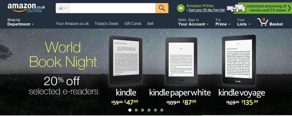 Amazon.co.uk Homepage