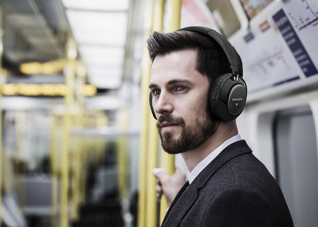 Philips SHB9850NC Wireless Noise Canceling Headphones
